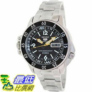 [105美國直購] Seiko Men's 男士手錶 Automatic SKZ211K Black Stainless-Steel Automatic Watch