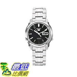 [美國直購] Seiko Men's 男士手錶 SNKK71 5 Stainless Steel Black Dial Watch