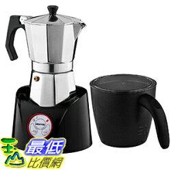 [106美國直購] Gourmia GMF255 電動咖啡摩卡壺 6杯 Espresso Coffee Pot & Milk Frother Combo (bialetti可參考)