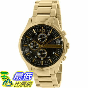 [105美國直購] Armani Exchange Men's 男士手錶 Smart AX2137 Gold Stainless-Steel Quartz Watch