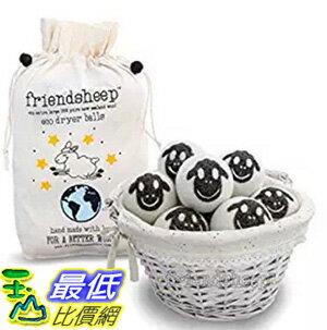 [106美國直購] Friendsheep Nepal 烘衣柔軟球小羊 Organic Eco Wool Dryer Balls 6 Pack - 限時優惠好康折扣