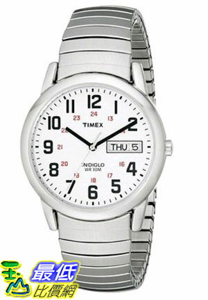 [105美國直購] Timex Easy Reader Day-Date Expansion Band Watch