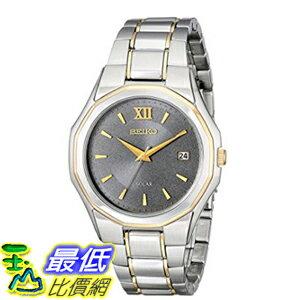[美國直購] Seiko Men's 男士手錶 SNE166 Classic Solar-Powered Two-Tone Stainless Steel Watch with Link Bracelet
