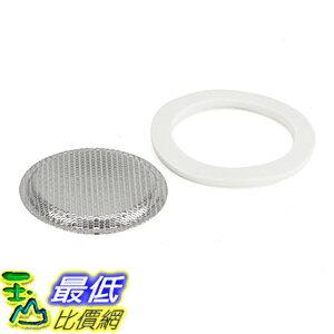 [106美國直購] Bialetti 06996 Mukka (2杯用) 摩卡壺 耗材膠圈+不鏽鋼濾網 Gasket/Filter Replacement Parts