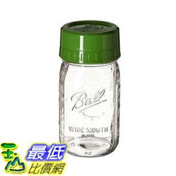 [106美國直購] Ball 梅森 1440040003 玻璃罐含蓋 Pour and Measure Cap with One Wide Mouth Quart Jar, Green
