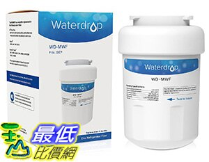 美國直購 Waterdrop MWF濾心濾芯冰箱濾心替代GE MWF SmartWater for GE MWF SmartWater,MWFA,MWFP,GWF,GWFA