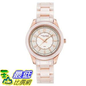 [106美國直購] Anne Klein New York Pink Ceramic Women's Watch 女士手錶