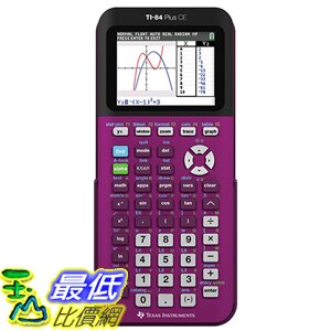 [美國直購] Texas Instruments 彩色 TI-84 Plus CE (7種顏色可選)  Plum Graphing Calculator