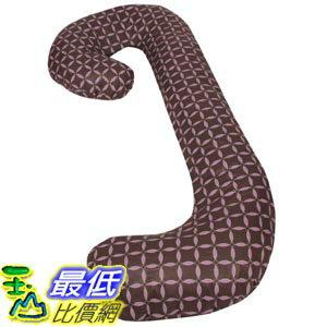 [105美國直購] Leachco 拉鍊式 孕婦枕套 格子款 Snoogle Chic - 100% Cotton Snoogle Replacement Cover Brown & Lilac Ri..