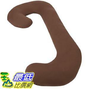 [105美國直購] Leachco 拉鍊式 孕婦枕套 咖啡色 Snoogle Chic Jersey - Snoogle Replacement Cover 100% Cotton Knit - Chocolate
