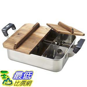 [東京直購] PEARL METAL H-4827 電磁爐可用 關東煮鍋 火鍋 湯鍋 附木蓋 28×24cm