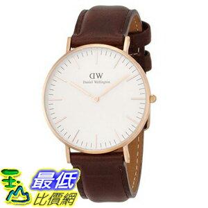 [105美國直購] Daniel Wellington 0511DW Classic Bristol Analog Display Quartz Brown Watch 女士手錶