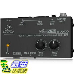 [美國直購] BEHRINGER MICROMON MA400 超緊湊 小型混音器 A127
