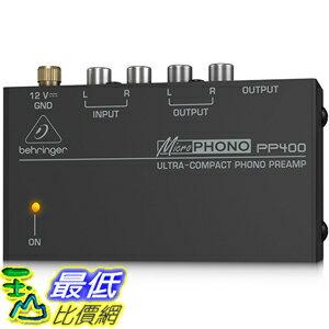 <br/><br/>  [美國直購] BEHRINGER MICROPHONO PP400 唱盤前級擴大機<br/><br/>