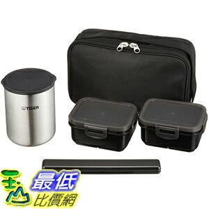[東京直購] TIGER 虎牌 LWY-R030-K 不鏽鋼 保溫飯盒 便當盒 1.5碗飯 提袋