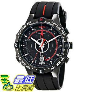 [105美國直購] Timex Men's T2N720 Intelligent Quartz Compass Tide Temperature Silver Case Black Strap Watch 男士手錶