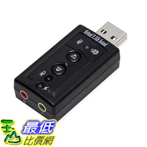 [美國直購] SYBA SD-CM-UAUD71 音源轉接頭 Virtual 7 Surround Sound USB External Adapter for Windows Mac