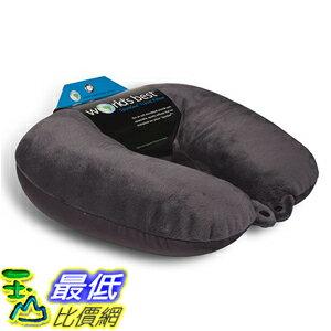 [美國直購] 航空坐飛機用頸枕睡枕枕頭 World's 2181CHAR Best Air Soft Microbead Neck Pillow, Charcoal