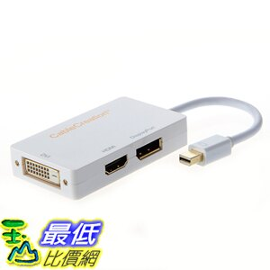 [美國代購] CableCreation CD0016 3-in-1 Gold Mini Displayport to HDMI/DVI/DisplayPort Adapter 適配器