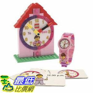 [美國直購] LEGO 9005039 時間教育 鬧鐘+手錶 女孩版 Time Teacher Pink Set with Plastic Watch, Constructible Clock and..