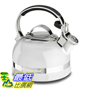 [美國直購] KitchenAid KTEN20SBWH 2.0-Quart Kettle with Full Stainless Steel Handle and Trim Band 白色 水壺