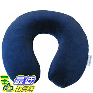 [美國直購] 航空坐飛機用頸枕睡枕枕頭 Travelmate PU112 Memory Foam Neck Pillow, Dark Blue