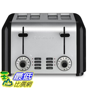 [美國直購] Cuisinart CPT-340 Compact Stainless 4-Slice Toaster, Brushed Stainless 烤麵包機 烤土司機
