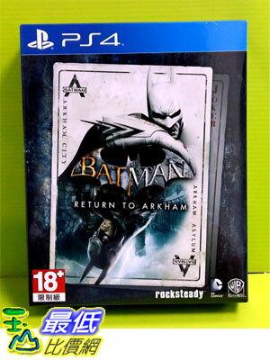 ^( 價^) ^(新春 ^) PS4 蝙蝠俠 重返阿卡漢 亞版 英文版 ^(雙片大盒裝^)