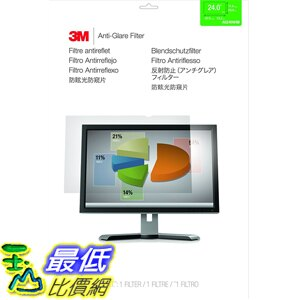 [美國直購] 3M AG24.0W9 Anti-Glare Filter 螢幕防眩光片(非防窺片) for Widescreen Monitor 24.0吋 531 mm x 299 mm _t0
