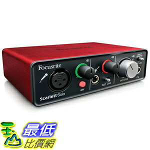 [美國直購] Focusrite Scarlett Solo Compact USB Audio Interface 音頻轉接口