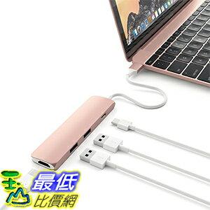[美國直購] Satechi 玫瑰金 集線器 鋁合金 Type-C 含 4K HDMI (30Hz) Video Output,2 USB 3.0 孔