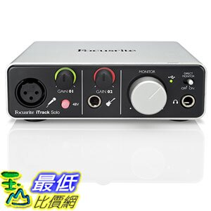 <br/><br/>  [美國直購] Focusrite 錄音介面 iTrack Solo Lightning and USB Compatible Audio Interface for iPad, Mac OS X and Windows<br/><br/>