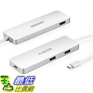 [美國直購] Anker AK-A8342041 集線器 Premium USB-C Hub 2 USB 3.0 , 1 HDMI , 1 USB-C Input Charging Port