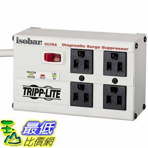 [美國直購] Tripp Lite ISOBAR4ULTRA 插座 Isobar 4 Outlet Surge Protector Power Strip 6ft Cord Right Angle P..