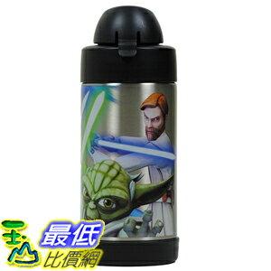 [美國直購] Thermos B00W8AAA28 Funtainer Star Wars Clone Wars 10 Oz Bottle with Yoda, Anakin and Obi Wan ..