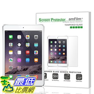 [美國直購 現貨] amFilm iPad Pro 9.7 保護貼 0.33m 2.5D Round Edge Tempered Glass Screen Protector iPad Air 2, ..
