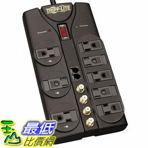 [美國直購] Tripp Lite TLP810SAT 濾波電源插座 8 Outlet Surge Protector Power Strip Tel/Modem/Coax 10ft