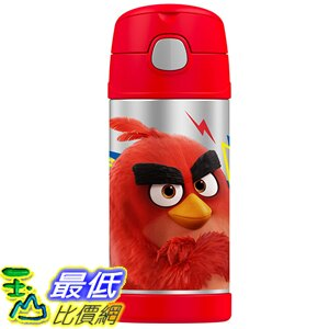 [美國直購] Thermos F4016AB6 Funtainer 12 Ounce Bottle, Angry Birds 兒童保溫水壺