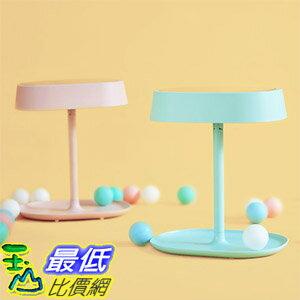 [玉山最低比價網] MUID 可充電式 LED 化妝鏡燈 三合一 化妝鏡 梳妝鏡 檯燈 儲物收納 三色end cap _e2d