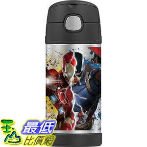 [美國直購] Thermos F4016CA6 Funtainer 12 Ounce Bottle, Captain America Civil War 兒童保溫水壺