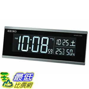 [東京直購] SEIKO CLOCK DL206S 電子鐘 時鐘 溫度 濕度 6.0×16.3×3.9cm