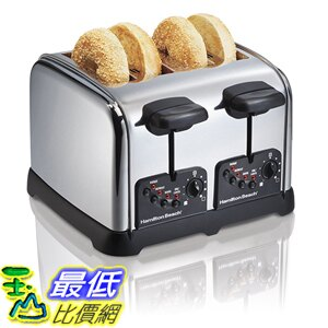 [美國直購] Hamilton Beach 24790 烤麵包機 烤土司機 Classic Chrome 4 Slice Toaster