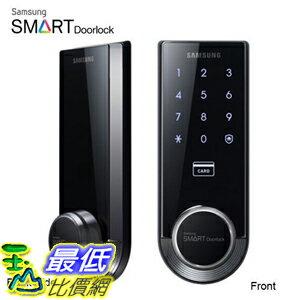 [美國代購] Samsung Ezon SHS-3321 Keyless Smart Universial Deadbolt Digital Door Lock, Black 鍵盤 門鎖