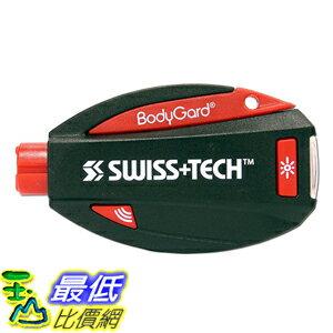 [美國直購] Swiss+Tech ST81005 破窗割安全帶 緊急自救 救援鑰匙圈 Black 5合1 BodyGuard Auto Emergency Escape Tool with Pani..