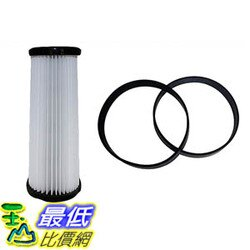 [106美國直購] Filter and Belt Kit for Dirt Devil Vacuums (F1 Filter, 4/5 Belts) 3JC0280000