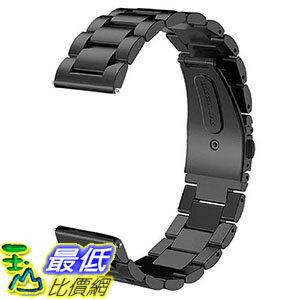 [106美國直購] V-Moro 100620 黑 不鏽鋼錶帶 (適用手腕125mm-215mm) 22mm Replacement Strap for Samsung Gear S3 Frontier/Classic