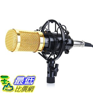 <br/><br/>  [美國直購] Floureon BM-800 黑銀兩色 錄音麥克風含麥克風架 Studio Recording Microphone + Shock Mount Holder<br/><br/>