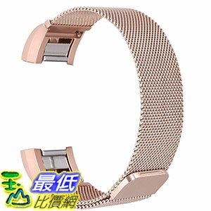 [美國直購]bayite玫瑰金不鏽鋼手環錶帶ReplacementBandsforFitbitCharge2,StainlessSteel