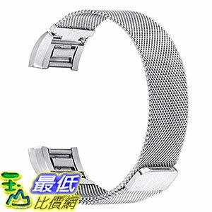 [美國直購] bayite 銀色 不鏽鋼手環 錶帶Replacement Bands for Fitbit Charge 2, Stainless Steel