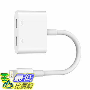 [美國直購] Belkin F8J198btWHT 充電器轉接器 Lightning Audio + Charge RockStar for iPhone 7 and iPhone 7 Plus